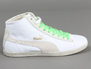 Boty Puma Glyde Canvas Washed Mid white EU 44